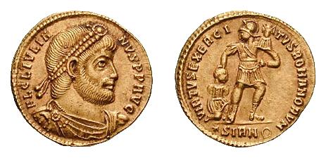 Zlatni novac Flavija Klaudija Julijana kovan u Sirmijumu oko 361. godine